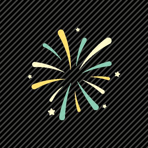 birthday, celebration, decoration, festival, firework, happy, party icon