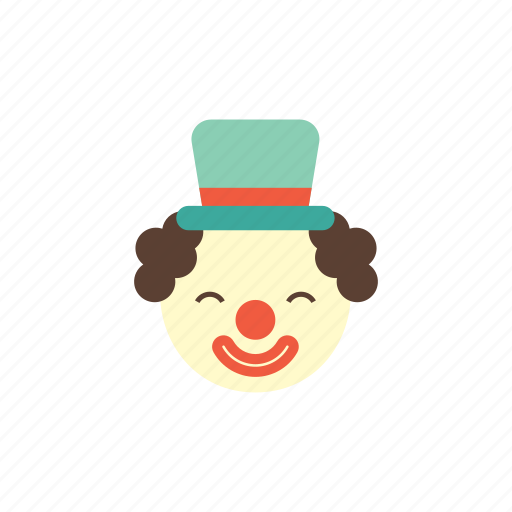 birthday, celebration, clown, funny, humor, kids, party icon