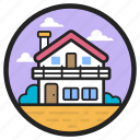 country house, farmhouse, guest house, manor house, rest house icon