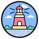 lighthouse, lighthouse tower, sea lighthouse, sea tower, tower house
