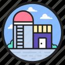building, silo, storage unit, storehouse, warehouse