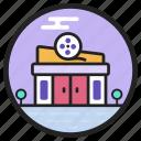 auditorium, cinema, movie house, playhouse, theatre