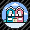 building, combined apartment, duplex, multifamily apartment, quadruplex