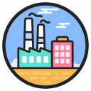 cooling tower, factory, nuclear plant, power plant, power station, powerhouse