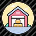 building, storage unit, storehouse, storeroom, warehouse