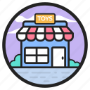 baby accessories store, building, gift shop, retail, toy store