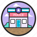 architecture, building, jail, lockup, police station