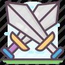 blade, crossing swords, dagger, war symbol, weapon icon
