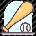 baseball, baseball equipment, baseball tool, bat ball, sports equipment icon