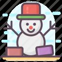 christmas snowman, snowman, snowman character, snowman design, winter snowman icon