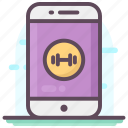fitness analysis app, fitness monitoring app, fitness tracking app, mobile app, online application icon