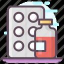 capsules, drugs, medical pills, medicine strip, pharmacy, pills strip icon