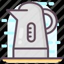 electric kettle, kitchen utensil, tea container, tea kettle, teapot, vessel icon