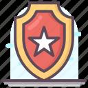 achievement badge, military badge, police star badge, quality badge, ranking badge icon