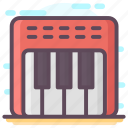 electronic musical piano, instrument keyboard, keyboard, music, musical instrument, piano icon