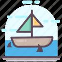 boat, cruise, marine, sailboat, ship, transport, travel icon