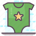 baby clothes, baby outfit, baby romper, dungarees, kids romper, kids summer romper icon