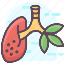 bronchial, healthcare, human lungs, human organ, lungs, pulmonology, respiratory tract icon