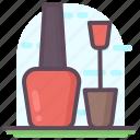 makeup, manicure, nail paint, nail polish, nail varnish icon