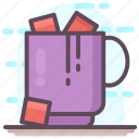 chocolate mug, hot beverage, hot chocolate, hot coco, hot coffee, hot drink icon