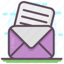 correspondence, email, envelope, letter, mail, message icon
