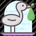 bird, egret wading birds, jabiru, stork icon