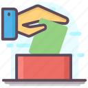 ballot box, elections, polling booth, vote casting, voting icon
