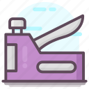 office supply, paper binder, paper stapler, stapler, stationery icon