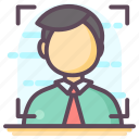business target, focus person, person target, target audience, user target icon
