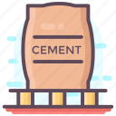 cement, cement bag, cement industry, cement pack, cement pouch, cement sack icon