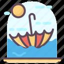 beach umbrella, canopy, parasol, protection, sunshade umbrella, umbrella icon