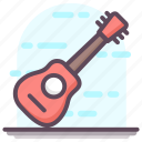 acoustic, electric guitar, guitar, musical instrument, stringed instrument icon