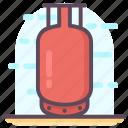 gas container, gas cylinder, gas tank, kitchen appliance, kitchen cylinder icon