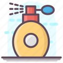 body fragrance, body spray, perfume bottle, scent bottle, spray can icon
