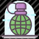 explosive material, grenade, hand grenade, incendiary grenade, military grenade icon