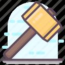 carpentry hammer, construction hammer, construction item, construction tool, hammer icon