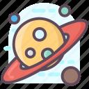 astronomy, galaxy, orbit, planet, planetary system, science, solar system icon