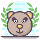 animal, bear animal, bear face, creature, mammal, specie icon