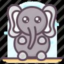 animal, creature, elephant animal, elephant cartoon, mammal, specie icon