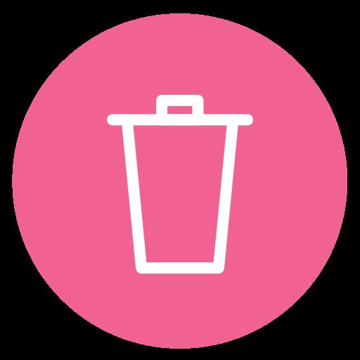 circle, delete, remove, style, trash icon
