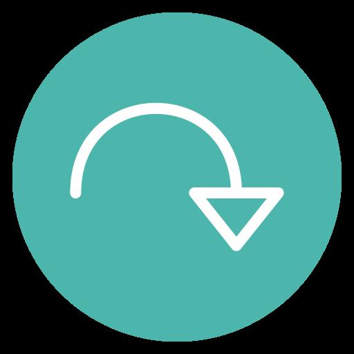 circle, redo, style icon