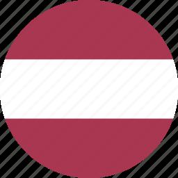 circle, latvia icon