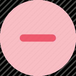 cancel, close, delete, minus, remove, trash icon