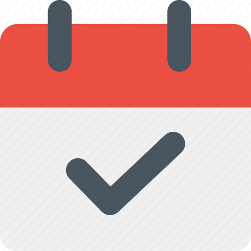calendar, check, checked, date, event, marked, plan icon