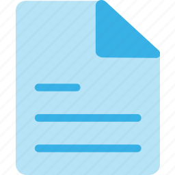 document, file, letter, message, page, paper, text icon