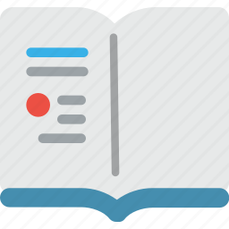 book, education, learning, open, reading, school, study icon