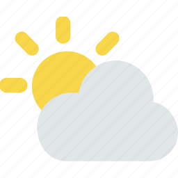 cloud, forecast, partly, sun, sunny, weather icon