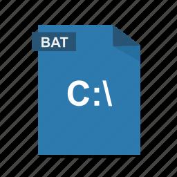 bat, batch, cmd, file, format, run icon