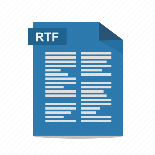 file, format, rich text, rtf, wordpad icon