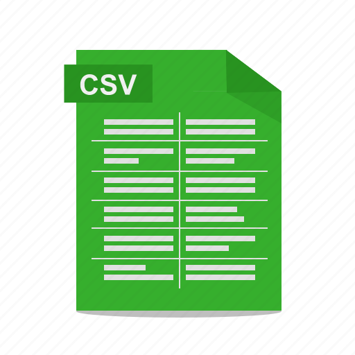 comma-separated, csv, file, format icon